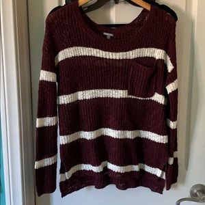 red and white striped sweater size M